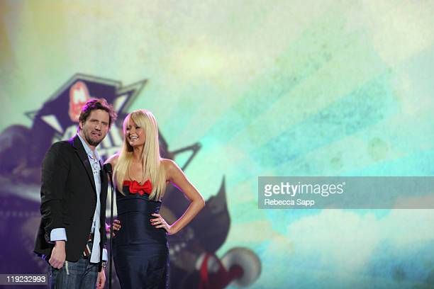 Jamie Kennedy and Paris Hilton during Inaugural Arby's Action Sports Awards Red Carpet and Show at Center Staging in Burbank California United States
