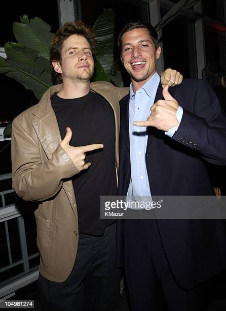 Jamie Kennedy and Simon Rex during The WB Television Network Upfront Allstar Party at The Lighthouse at Chelsea Piers in New York City New York...