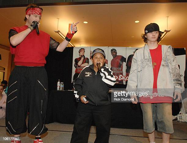 Jamie Kennedy Emmanuel Lewis and Jesse Brown during Kickin' It Old Skool Breakdance Contest at StoneCrest Mall at Stonecrest Mall in Atlanta Georgia...