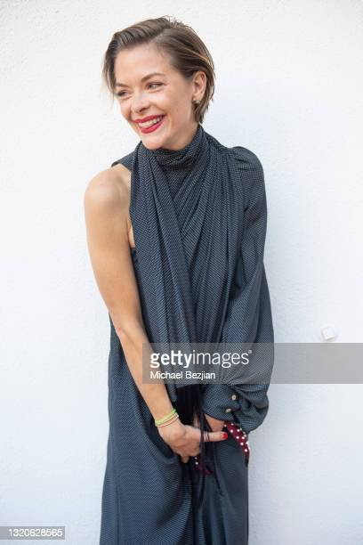 Jamie King poses for a portrait at The Artists Project Giveback Day on May 28, 2021 in Los Angeles, California.