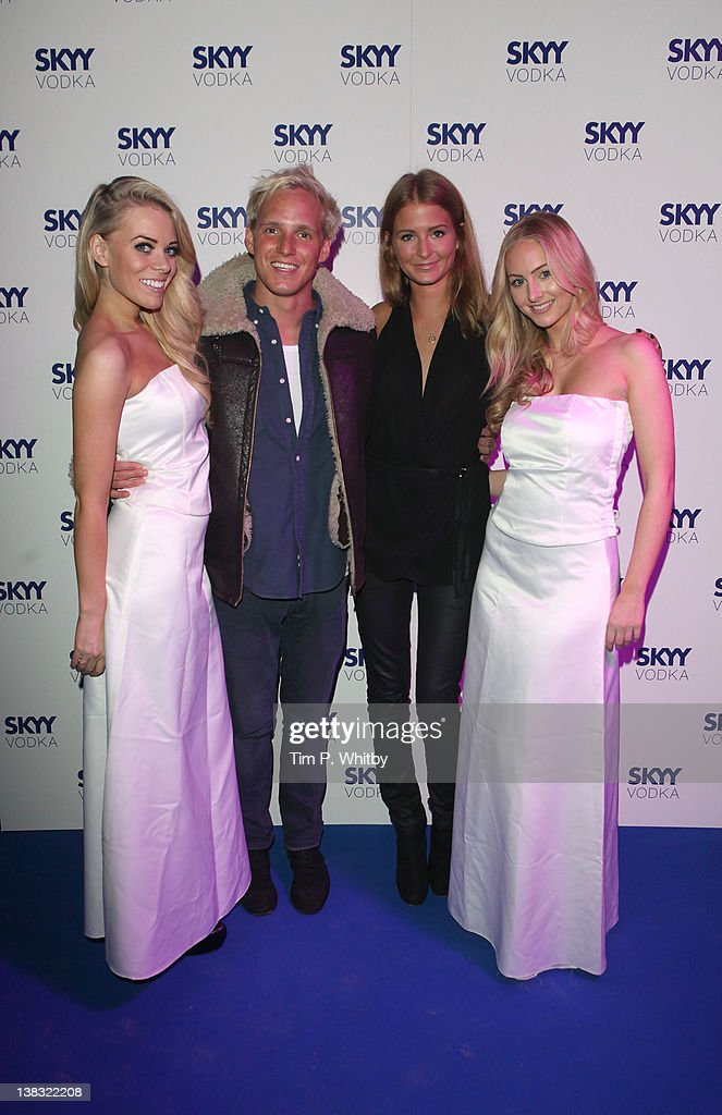 Jamie Laing and Millie Mackintosh (centre) pictured with guests at The Skyy Vodka Global Flair Challenge Finals in London 2012 at Electric Brixton on February 5, 2012 in London, England.