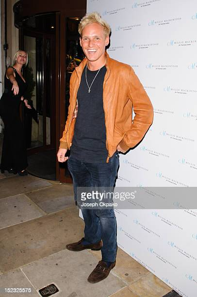 Jamie Laing from the cast of Made in Chelsea attends the launch of Millie Mackintosh's Nouveau lashes at Sanctum Soho on September 18 2012 in London...