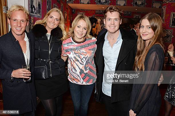 """Jamie Laing, Georgie Le Roux, Poppy Jamie, Alex Le Roux and Molly Whitehall attend a drinks reception ahead of a special screening of """"Whiplash"""" at..."""