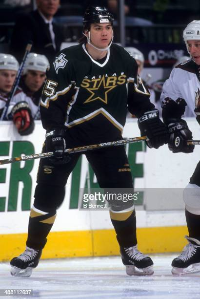 Jamie Langenbrunner of the Dallas Stars skates on the ice during an NHL game against the Phoenix Coyotes on March 12 1998 at the America West Arena...