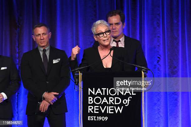 Jamie Lee Curtis accepts the award for Best Ensemble for Knives Out onstage during The National Board of Review Annual Awards Gala at Cipriani 42nd...