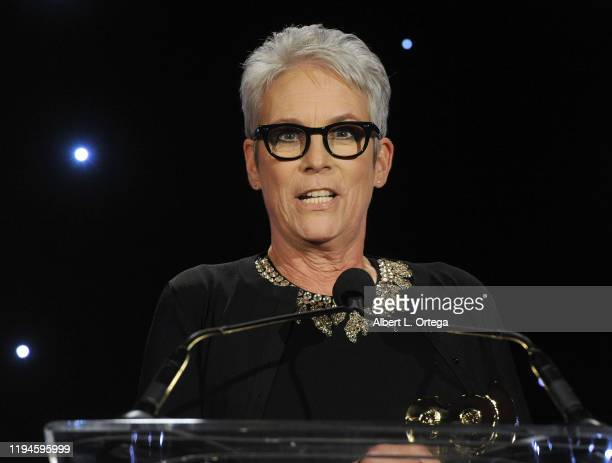 Jamie Lee Curtis accepts the SOC's President's Award at The Society of Camera Operators Lifetime Achievement Awards 2020 held at Loews Hollywood...
