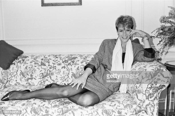 Jamie Lee Curtis actor pictured at Claridges Hotel in London Jamie daughter of actor Tony Curtis is in London to promote her latest film Trading...