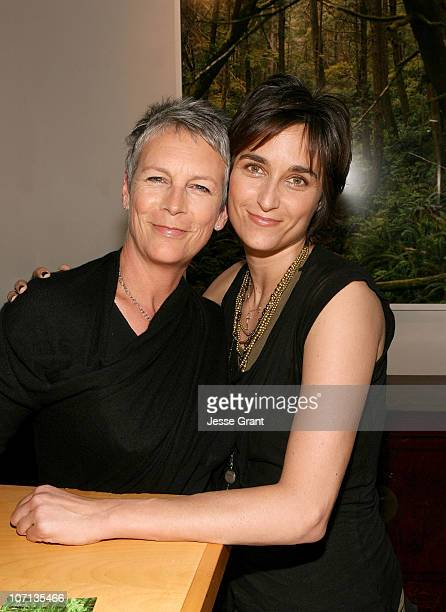Jamie Lee Curtis and Alexandra Hedison attend Alexandra Hedison's ITHAKA opening at Month Of Photography LA at Frank Pictures Gallery on April 4 2009...