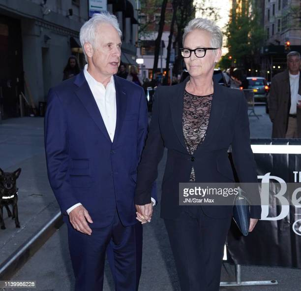Jamie Lee Curtis and Christopher Guest are seen on April 27 2019 in New York City
