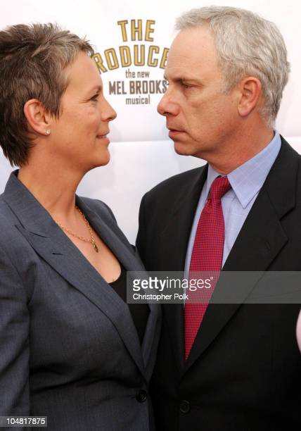 Jamie Lee Curtis and Christopher Guest during Opening Night of The Producers at Pantages Theatre in Hollywood California United States
