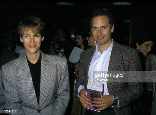 Jamie Lee Curtis and Christopher Guest during Sticky Fingers Beverly Hills Premiere at Samuel Goldwyn Academy Theater in Beverly Hills California...