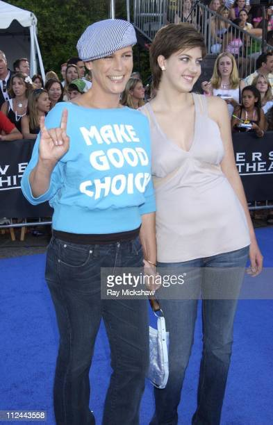 Jamie Lee Curtis and daughter Annie during 2003 Teen Choice Awards Blue Carpet at Universal Amphitheatre in Universal City California United States