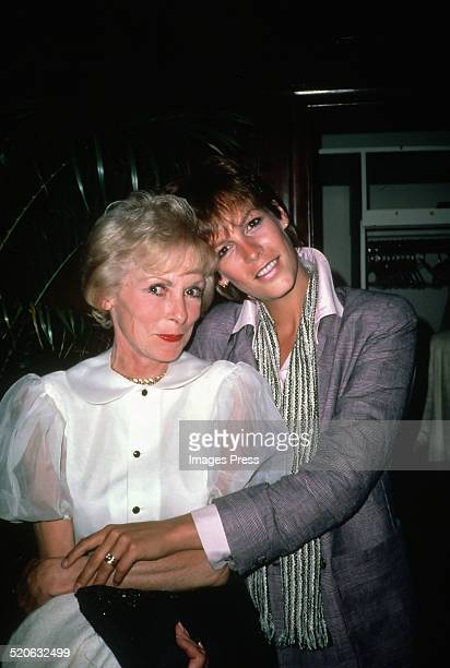 Jamie Lee Curtis and her mom Janet Leigh circa 1980s in New York City