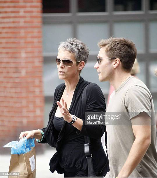 Jamie Lee Curtis and Jake Gyllenhaal during Jake Gyllenhaal and Jamie Lee Curtis Sighting in New York City September 27 2006 in New York City New...