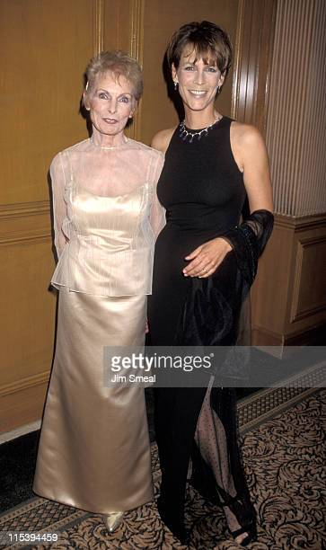 Jamie Lee Curtis and Janet Leigh during University of the Pacific Arts Awards October 2 1981 at Beverly Wilshire Hotel in Beverly Hills California...