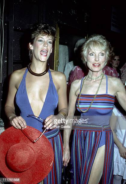 Jamie Lee Curtis and Janet Leigh during Young Musicians Foundation Celebrity MotherDaughter Fashion Show 1983 at Beverly Hills Hotel in Beverly Hills...