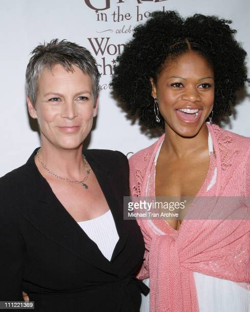 Jamie Lee Curtis and Kimberly Elise during Girlz in the Hood Luncheon Celebrating Women of Achievement Awards to Benefit A Place Called Home at...