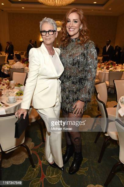 Jamie Lee Curtis and Our Lady J attend the 20th Annual AFI Awards at Four Seasons Hotel Los Angeles at Beverly Hills on January 03 2020 in Los...
