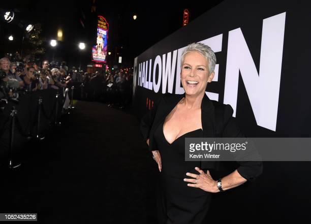 Jamie Lee Curtis arrives at the premiere of Universal Pictures' Halloween at the TCL Chinese Theatre on October 17 2018 in Los Angeles California
