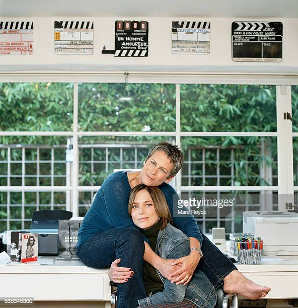Jamie Lee Curtis at home in LA with sister Kelly Curtis