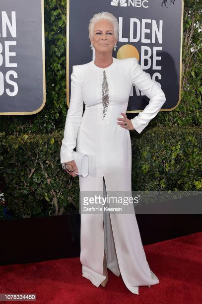 Jamie Lee Curtis attends FIJI Water at the 76th Annual Golden Globe Awards on January 6 2019 at the Beverly Hilton in Los Angeles California