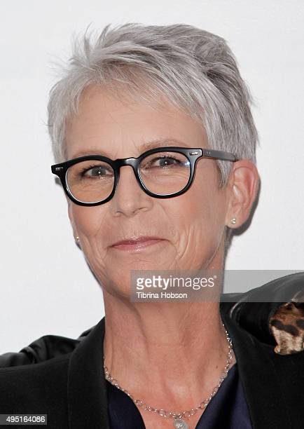 Jamie Lee Curtis attends Live Talks Los Angeles at Moss Theatre at New Roads School on October 30 2015 in Santa Monica California