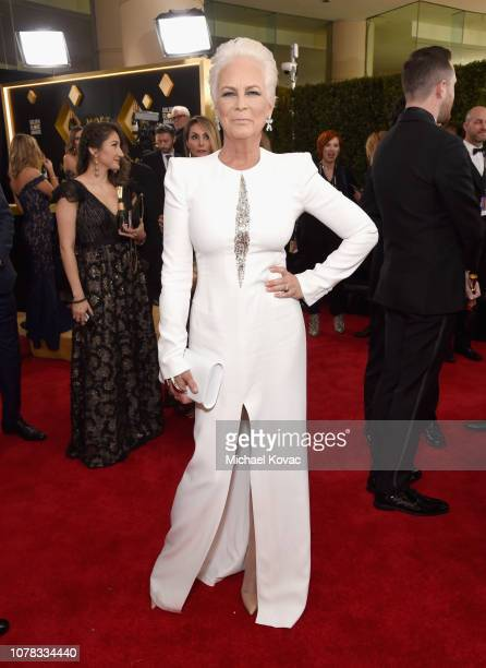 Jamie Lee Curtis attends Moet Chandon at The 76th Annual Golden Globe Awards at The Beverly Hilton Hotel on January 6 2019 in Beverly Hills California