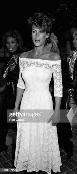 Jamie Lee Curtis attends SHARE Party on April 28 1984 at UCLA Campus in Westwood California