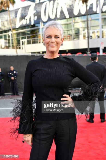 Jamie Lee Curtis attends the 2019 American Music Awards at Microsoft Theater on November 24 2019 in Los Angeles California