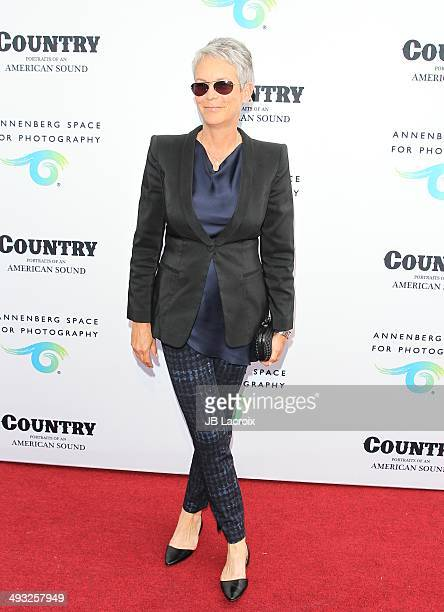 Jamie Lee Curtis attends the Annenberg Space for Photography Opening Celebration for 'Country Portraits of an American Sound' at the Annenberg Space...