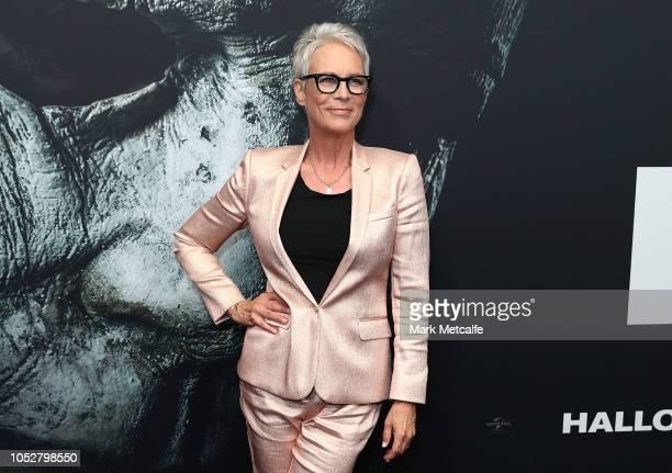 Jamie Lee Curtis attends the Australian Premiere of Halloween at Event Cinemas George Street on October 23 2018 in Sydney Australia