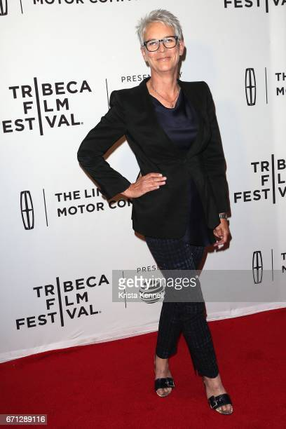 Jamie Lee Curtis attends the Hondros World Premiere during the 2017 Tribeca Film Festival at Cinepolis Chelsea on April 21 2017 in New York City