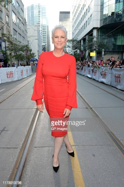 Jamie Lee Curtis attends the Knives Out premiere during the 2019 Toronto International Film Festival at Princess of Wales Theatre on September 07...