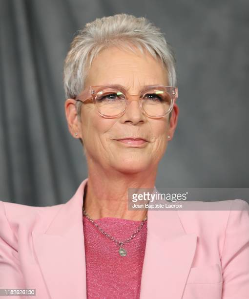 Jamie Lee Curtis attends the photocall for Lionsgate's Knives Out at Four Seasons Hotel Los Angeles at Beverly Hills on November 15 2019 in Los...