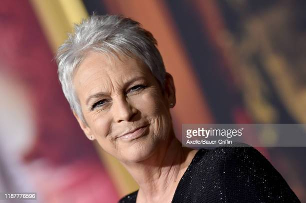 """Jamie Lee Curtis attends the Premiere of Lionsgate's """"Knives Out"""" at Regency Village Theatre on November 14, 2019 in Westwood, California."""