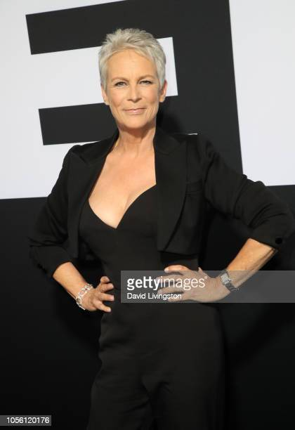 """Jamie Lee Curtis attends the premiere of Universal Pictures' """"Halloween"""" at TCL Chinese Theatre on October 17, 2018 in Hollywood, California."""