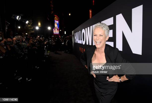 Jamie Lee Curtis attends the Universal Pictures' Halloween premiere at TCL Chinese Theatre on October 17 2018 in Hollywood California