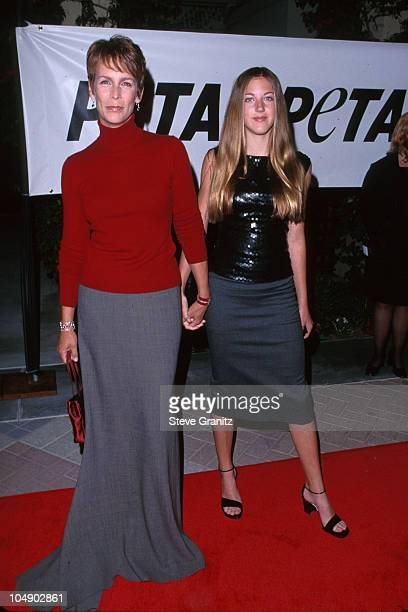 Jamie Lee Curtis daughter Annie during Peta's Party of the Century and Humanitarian Awards at Paramount Studios in Los Angeles California United...