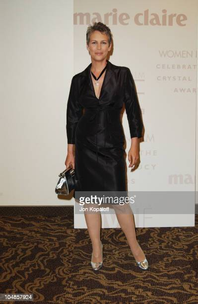 Jamie Lee Curtis during 2003 Women In Film Crystal Lucy Awards at Century Plaza Hotel in Century City California United States