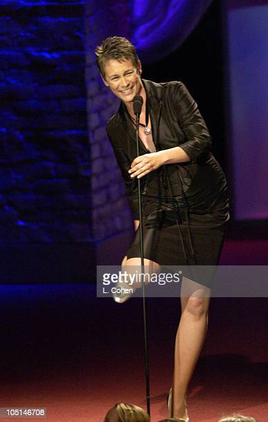 Jamie Lee Curtis during 2003 Women In Film Crystal Lucy Awards Show at Century Plaza Hotel in Los Angeles California United States