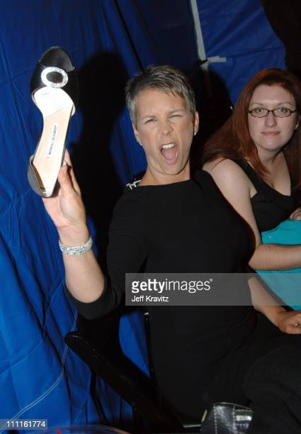 Jamie Lee Curtis during 25th Anniversary Gala for PETA and Humanitarian Awards Backstage and Audience at Paramount Studios in Hollywood California...