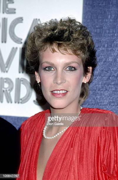 Jamie Lee Curtis during 'American Movie Awards' Party 1982 at Chasen's Restaurant in Hollywood California United States