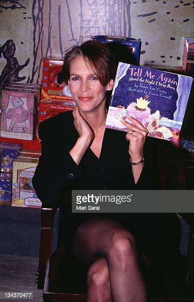 Jamie Lee Curtis during Jamie Lee Curtis Autographing New Book 'Tell Me Again About The Night I Was Born' at Barnes Noble in New York City New York...