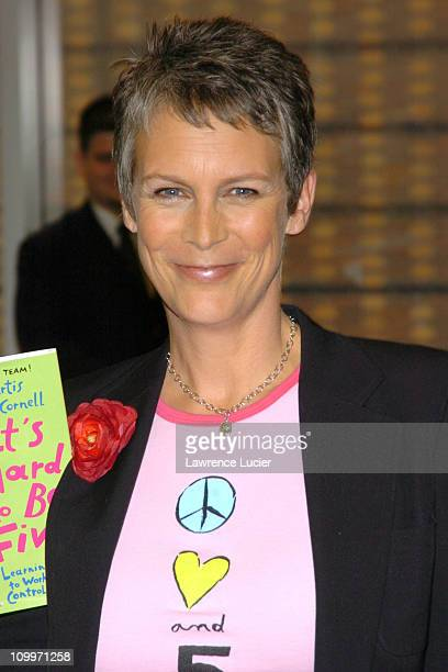 Jamie Lee Curtis during Jamie Lee Curtis Signs her New Book It's Hard To Be Five at Barnes Noble September 7 2004 at Barnes And Noble in New York...