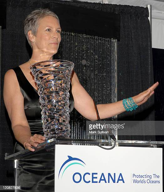 Jamie Lee Curtis during Oceana Celebrates 2006 Partners Award Gala Red Carpet and Inside at Esquire House 360 in Beverly Hills California United...