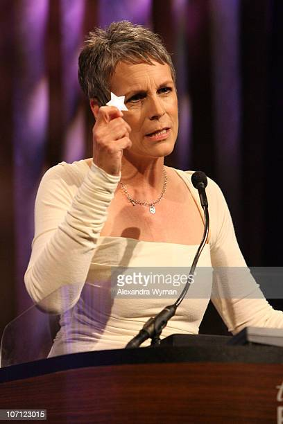 Jamie Lee Curtis during Starlight Starbright Children's Foundation's Annual A Stellar Night Gala Inside at The Beverly Hilton in Beverly Hills...