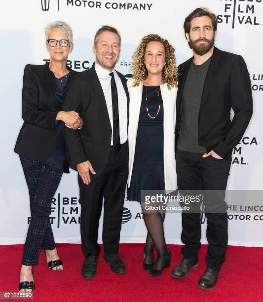 Jamie Lee Curtis Greg Campbell Riva Marker and Jake Gyllenhaal attend the 'Hondros' Premiere during 2017 Tribeca Film Festival at Cinepolis Chelsea...