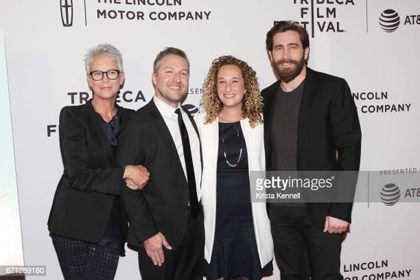 Jamie Lee Curtis Greg Campbell Riva Marker and Jake Gyllenhaal attend the Hondros World Premiere during the 2017 Tribeca Film Festival at Cinepolis...