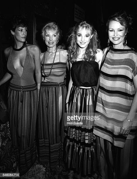 Jamie Lee Curtis Janet Leigh Chynna Phillips and Michelle Phillips attend Young Musicians Celebrity MotherDaughter Fashion Show on March 10 1983 at...