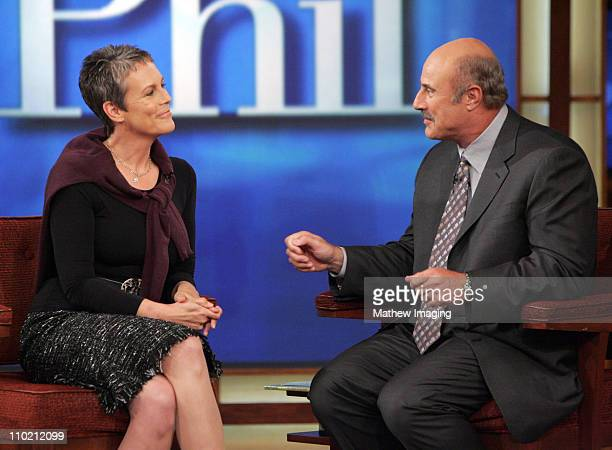 Jamie Lee Curtis on the set of the DR PHIL show during the taping of the episode entitled 'Parents Top Three Problems' The program is scheduled to...